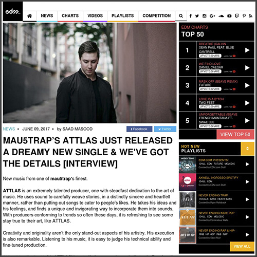 ATTLAS, mau5trap, deadmau5, interview, edm.com, news