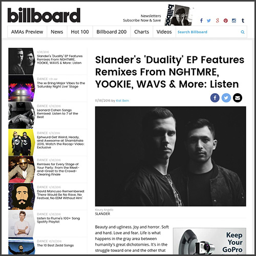 Slander, Billboard, NGHTMRE, Diality EP, Mad Decent, News