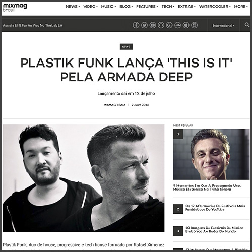 Mixmag, Brasil, Plastik Funk, This Is It, Armada, News