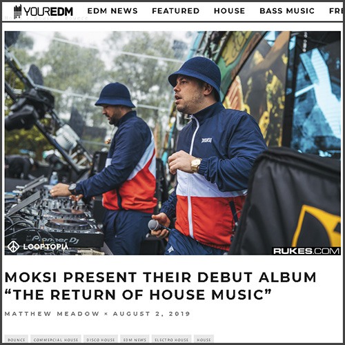 Moksi, Your EDM, News