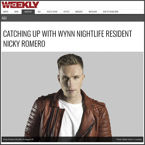 Nicky Romero, Las Vegas Weekly, Interview, News