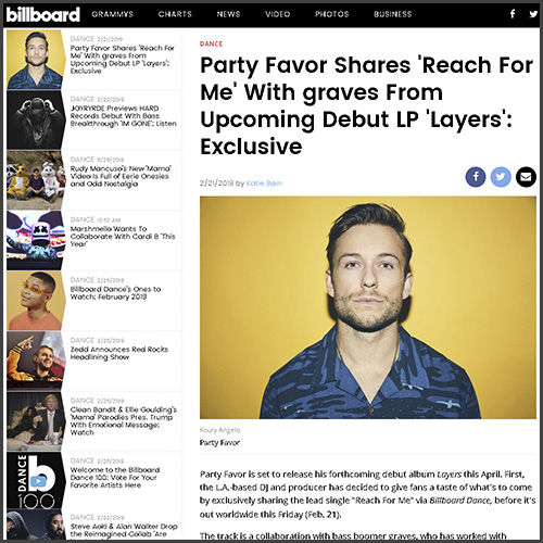 Party Favor, Billboard,News