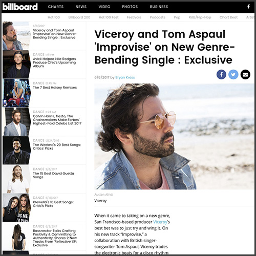 Viceroy, Dim Mak, Improvise, Tom Aspaul, Billboard, News