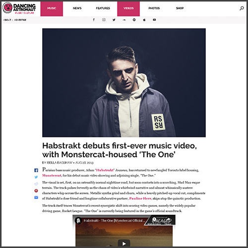 Habstrakt, Dancing Astronaut, News