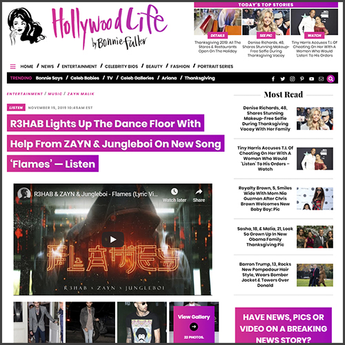 R3HAB, Hollywood Life, News