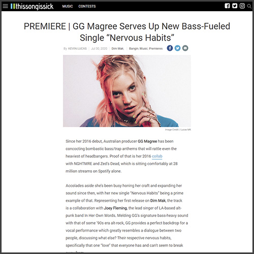 GG Magree, this song is sick, News