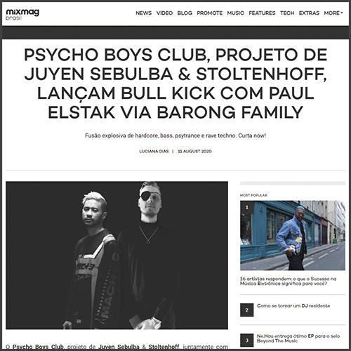 Psycho Boys Club, barong Family, News