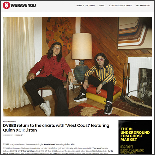 DVBBS, we rave you, News